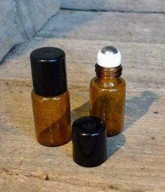 roller flesje 3ml amberkleurig voor etherische olie