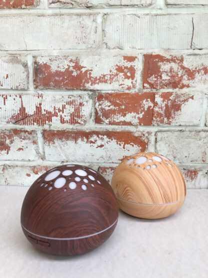 donut aromatherapie ultrasone diffuser 3k donker hout 100ml