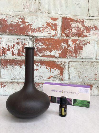 aromatherapie ultrasone diffuser 1k donker hout 100ml
