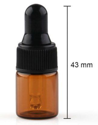 Pipet flesje 2ml amberkleurig glas