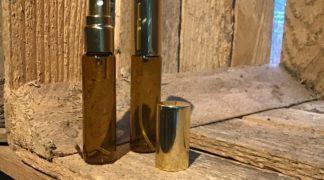 spay flesje 10ml amberkleurig glas goudkleurige afwerking