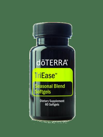 triease etherische olie capsulles voor het ondersteunen van seizoens allergie (bvb hooikoorts) symptomen