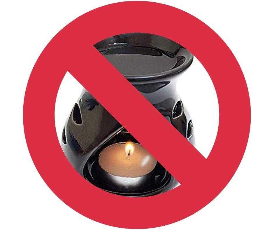 essential oil burner not done