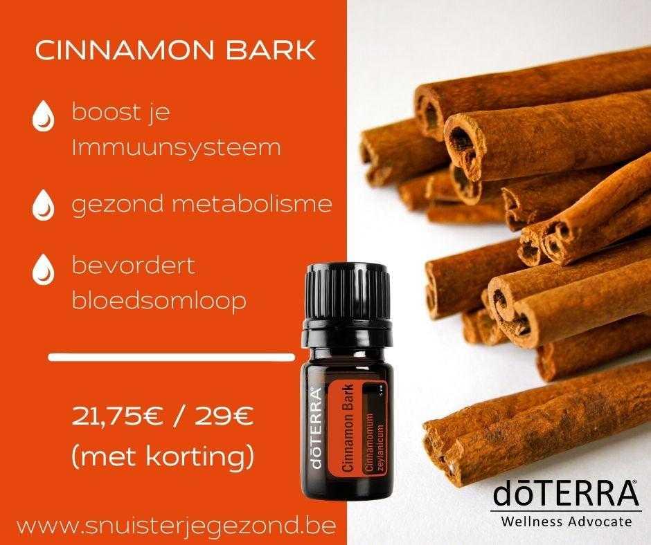 cinnamon bark (kaneel) boost je immuunsysteem, bevordert bloedsomloop,ondersteunt stofwisseling en zorgt voor een gezonder metabolisme