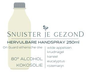 250ml hervulbare alcohol handspray met On Guard etherische olie